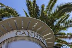 Cannes i Frankrike Arkivfoton