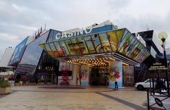Cannes - kasino i slott av festivaler royaltyfri foto