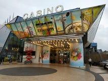 Cannes - kasino i slott av festivaler royaltyfri bild
