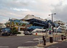 Cannes - kasino i slott av festivaler arkivbilder