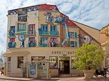 Cannes - Kunst het schilderen op de muur Stock Afbeeldingen