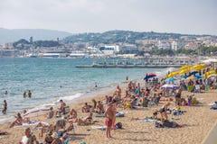 Cannes kust Arkivfoto