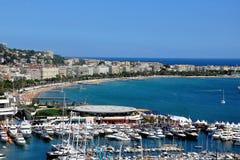 Cannes, la Côte d'Azur Photos libres de droits