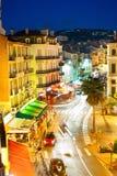 Cannes la nuit images libres de droits