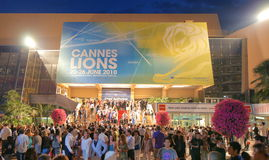 Cannes Lions International Advertising Festival Royalty Free Stock Photography