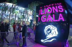 Cannes Lions International Advertising Festival Royalty Free Stock Photo