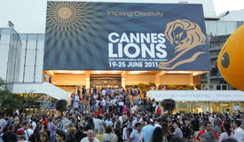 Cannes Lions International Advertising Festival Stock Photography