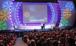 Cannes Lions International Advertising Festival Stock Photos