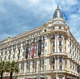 Cannes - luxehotel Carlton stock fotografie