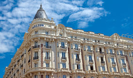 Cannes - luxehotel Carlton royalty-vrije stock foto