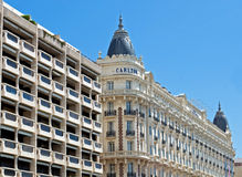 Cannes - luxury hotel Carlton Stock Photos