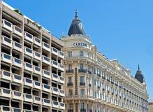 Cannes - luxury hotel Carlton stock photos