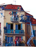 Cannes : maison peinte Image libre de droits