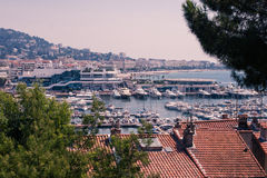 Cannes marina south of france royalty free stock photo