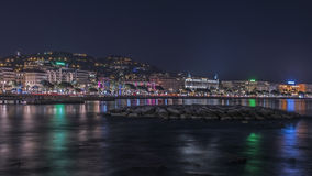 Cannes by night Royalty Free Stock Images