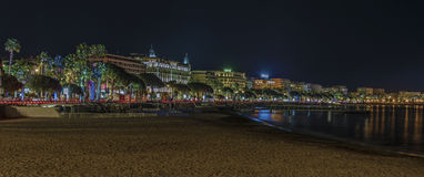 Cannes by night Royalty Free Stock Photo