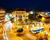Cannes at night Stock Images