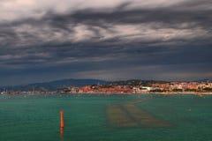 Cannes nuvoloso Fotografia Stock