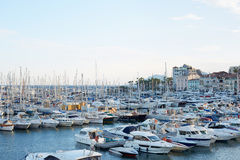 Cannes old harbor boats and yachts, french riviera Stock Images