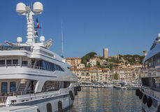 Cannes Old Town and Harbor - South of France Stock Photography