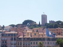 Cannes old town - Suquet. A view of the Suquet in Cannes royalty free stock photography