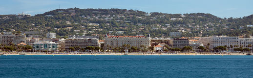 Cannes - Panoramic view of the La Croisette Royalty Free Stock Photography