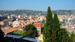 Cannes, paysage urbain de la France banque de vidéos