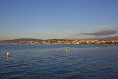Cannes, piękny nadmorski widok Francja obraz royalty free