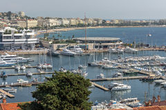 Cannes-Pier Stockfoto