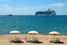 Cannes - plaża Zdjęcia Stock