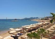 Cannes - praia Foto de Stock Royalty Free