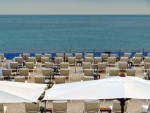 Cannes - praia pública fotos de stock royalty free