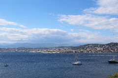 Cannes from the Sain Margarite Island Royalty Free Stock Photos