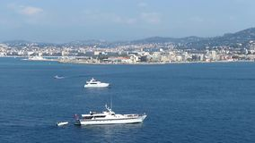 Cannes and sea bay stock video footage