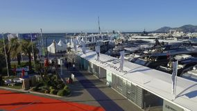 Cannes-Segelsport-Festival am 12. September 2017 stock video footage