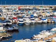 Cannes - Small yachts anchored in port Royalty Free Stock Image