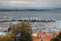 Cannes during springtime before festival. Tungsten day Royalty Free Stock Photography