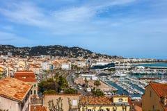 Cannes stad i Frankrike Fotografering för Bildbyråer
