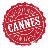 Cannes stamp rubber grunge. Cannes stamp. Grunge design with dust scratches. Effects can be easily removed for a clean, crisp look. Color is easily changed Stock Photography