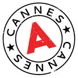 Cannes stamp rubber grunge. Cannes stamp. Grunge design with dust scratches. Effects can be easily removed for a clean, crisp look. Color is easily changed Stock Images