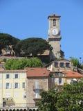 Cannes stary grodzki kościelny wierza Zdjęcia Royalty Free
