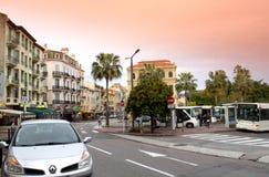 Cannes-Straßenansicht, Frankreich Lizenzfreie Stockfotografie