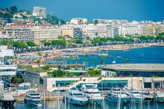 Cannes strand Frankrike Royaltyfri Foto