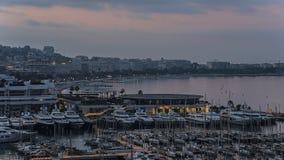 Cannes sunrise Royalty Free Stock Photos