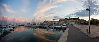 Cannes after sunset Royalty Free Stock Photography