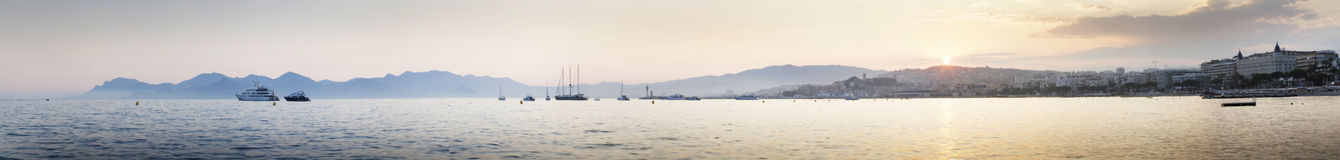 Cannes at sunset Stock Photography