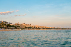 Cannes at sunset Royalty Free Stock Image