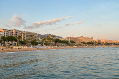 Cannes at sunset Royalty Free Stock Photography