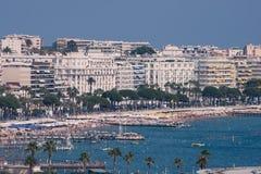 Cannes und La Croisette Stockfotos