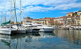 Cannes - View of Le Suquet Royalty Free Stock Photos